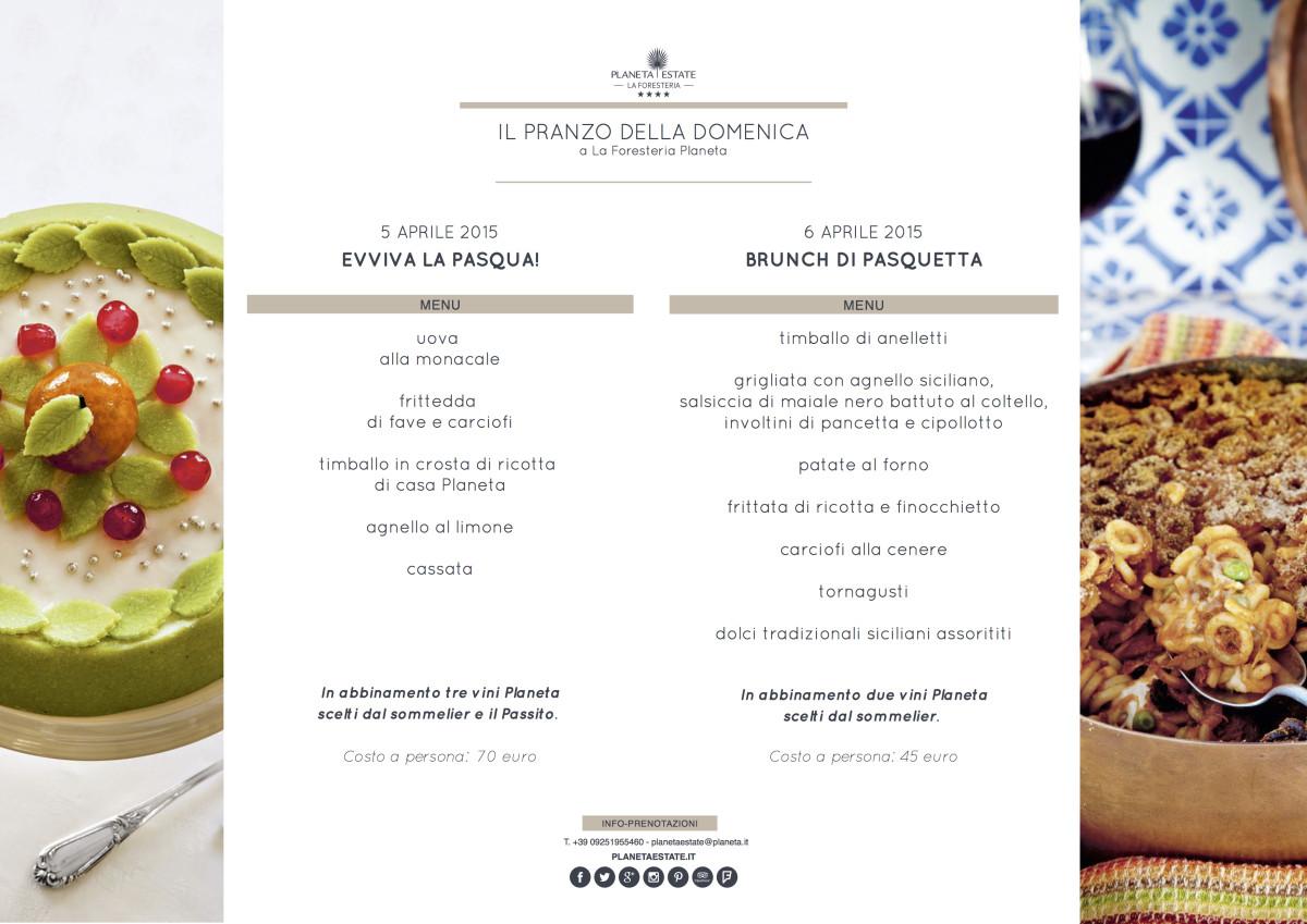 menu pasqua e pasquetta